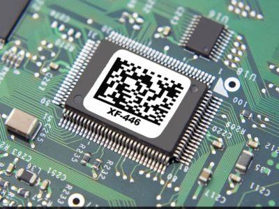 étiquette composant électronique