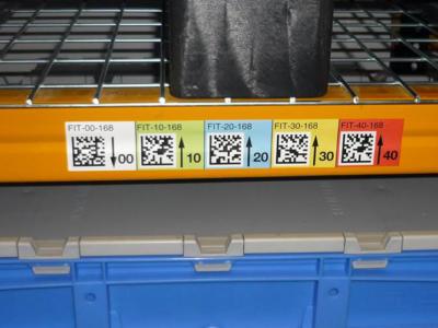 etiquette bandeaux palettiers datamatrix